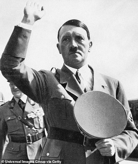 Hitler's SS used the building as a brothel. Pictured: Hitler in 1945