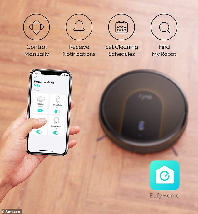 The vacuum is even compatible with Alexa, so you can simply use a voice command to get your cleaning started, or you can use the app to set cleaning schedules