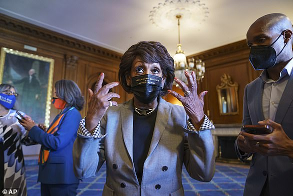 California Rep Maxine Waters (pictured) flew into Minneapolis on the eve of jury deliberations to rally protestors and demand justice. 'We're looking for a guilty verdict. And if we don't, we cannot go away. We've got to get more confrontational,' she urged crowds over the weekend