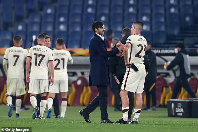Hours before Mourinho's appointment, Roma announced current coach Paolo Fonseca was off
