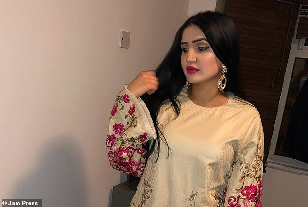 Zulfiqar (pictured) is understood to have moved from Pakistan from the UK around two months ago, where she had been studying at Middlesex University after attending school in Twickenham. She was visiting Pakistan for a wedding but decided to stay