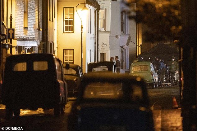 Security unit: It comes after film bosses reportedly shelled out on a 'massive security unit' in anticipation of the filming on Brighton's seafront