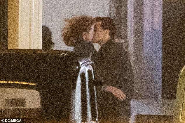 Smooch: Harry Styles and his co-star Emma Corrin were spotting sharing an on-screen kiss as they filmed their new drama My Policeman in Brighton