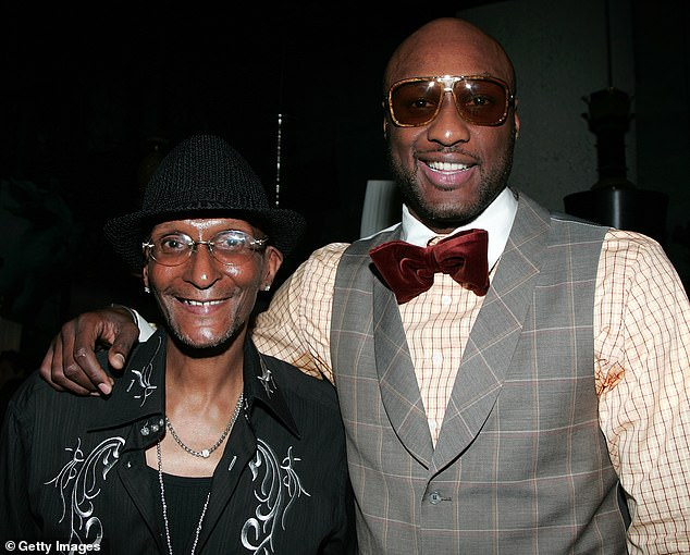 Tragedy:Lamar Odom has paid tribute to his father Joe on social media days after his death, as they are seen together in November 2008