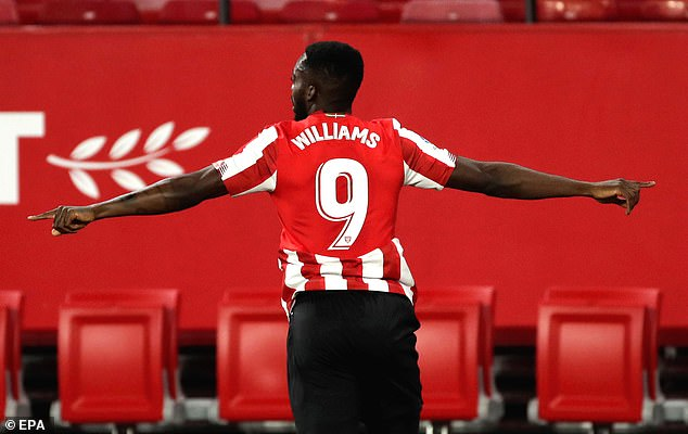 Wlliams capped of his 191st consecutive appearance with a last-minute winner against Sevilla