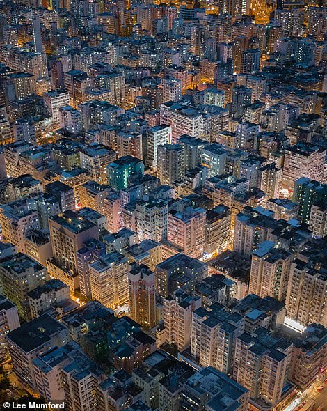 An aerial shot over Hong Kong that Lee says highlights the 'dense living' conditions