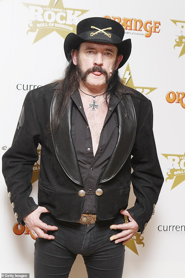 Wedding bells: Sam revealed when her father passed away her 'great mate' Lemmy fromMotörhead offered to step in and walk her down the aisle but he too tragically died in 2015 (pictured in 2012)
