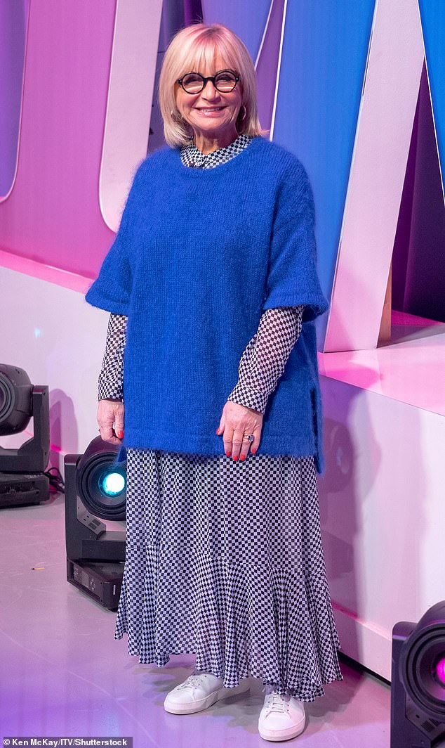 Under the knife: Sally Morgan revealed she was undergoing a facelift and excessive skin removal after losing 16.5 stones on her weight loss journey (pictured in 2019)