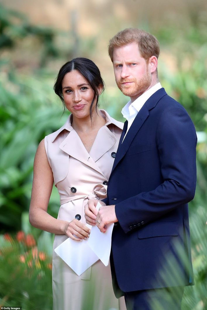 Prince Harry, Duke of Sussex and Meghan, Duchess of Sussex at a Creative Industries and Business Reception on October 2, 2019 in Johannesburg, South Africa