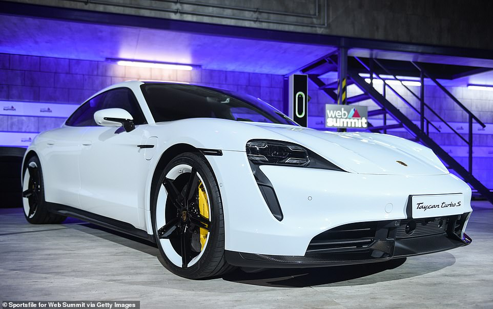 APorsche Taycan Turbo S, of the kind owned by Bill Gates. He said the car was 'very cool'