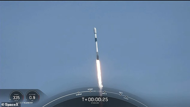The flight, called Starlink 25, is the 13th mission of 2021 for the Elon Musk-owned firm and the third time this Falcon 9 rocket has ventured into space
