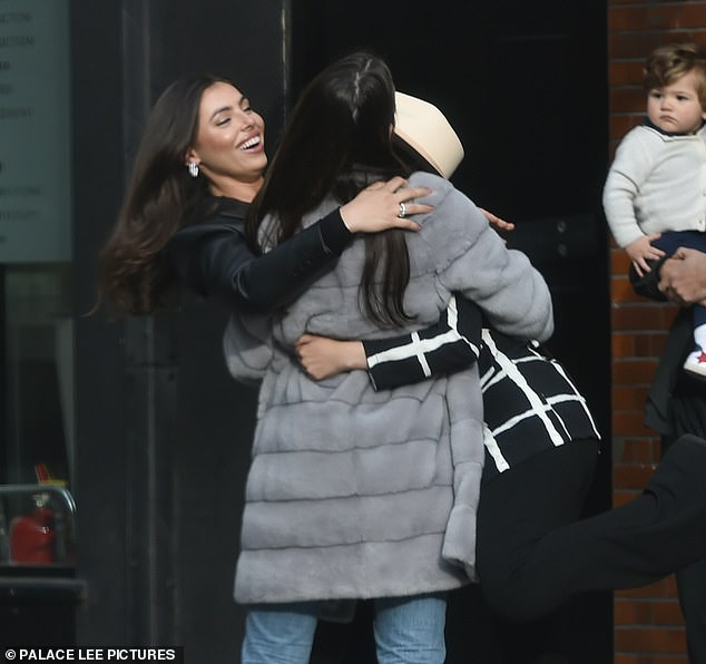 Sibling love: Francesca and Claudia looked pleased to see each other again