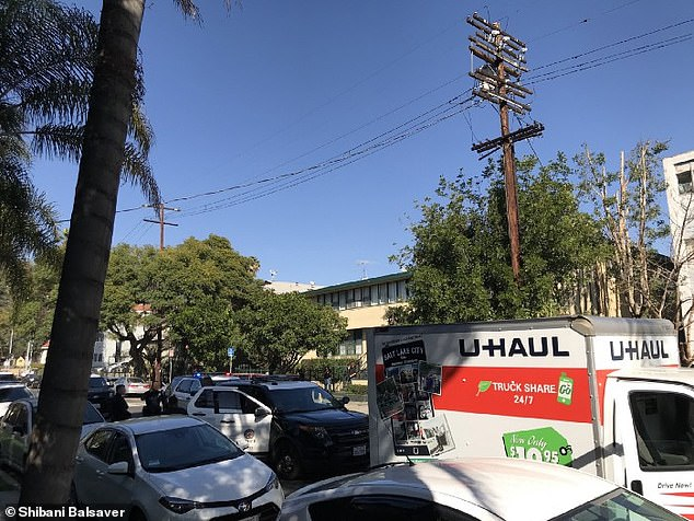 Police thought this U-Haul truck has been reported as stolen, even though the rental company said it has been recovered