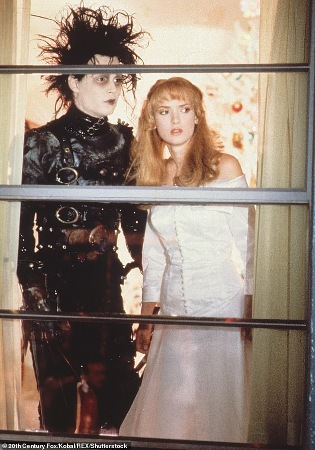 Co-stars: The pair starred alongside each other in Edward Scissorhands in 1990 and were known for their mutual love of poetry
