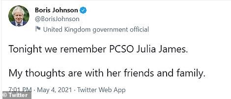 Boris Johnson posted on Twitter