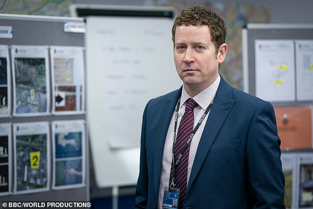 SO Clever: It comes after Jed Mercurio revealed he wrote in a major clue that Ian Buckells (pictured) was H back in Line Of Duty's very first season