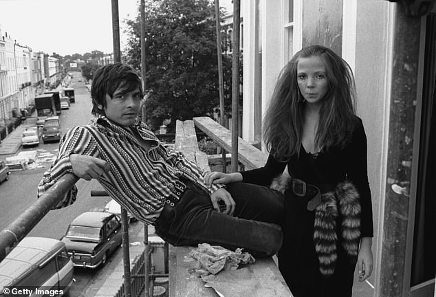 Bailey and his team sifted through dozens of boxes of negatives and contact sheets stored in his London studio.  Pictured: David Bailey with model Penelope Tree in London in 1967