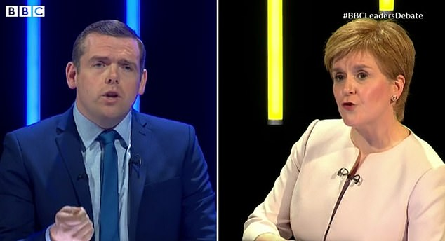 In a tense back and forth, the First Minister was warned by the Conservatives leader Douglas Ross that she could not properly conduct a referendum campaign while being in charge of the recovery from coronavirus
