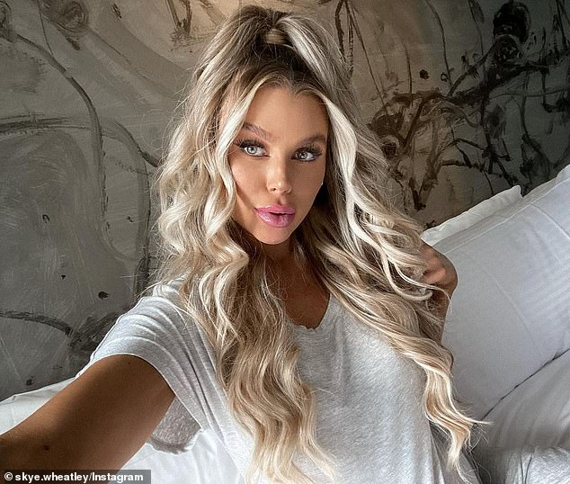 Criticism: Love Island star Tayla Damir and Skye Wheatley (pictured) were among the celebrities who were highly-critical of the account
