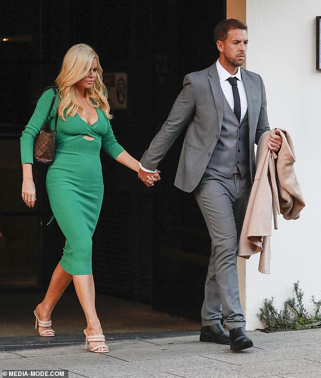 Engagement bliss!Sophie Monk, 41, and her fiancé Joshua Gross, 40, proudly put their love on display as they stepped out for a ritzy date night in Melbourne on Thursday