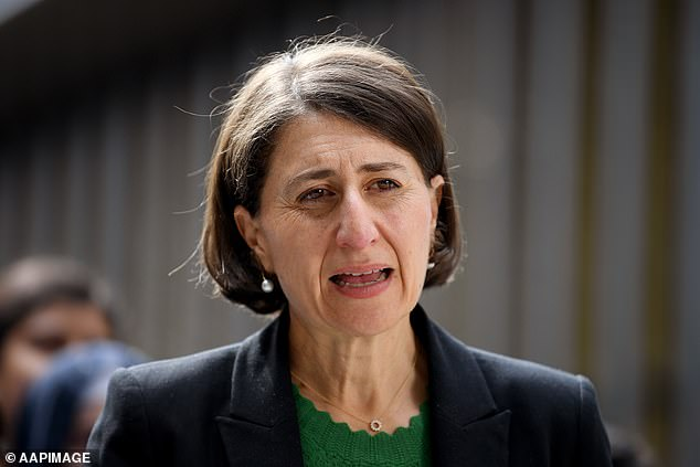 Ms Berejiklian (pictured) said the rollout of the Covid vaccine was critical and necessary for Australia's re-engagement with the world