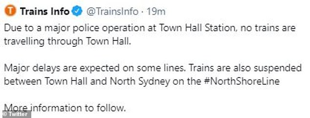 No trains are running through the station, leading to major delays on Sydney's train network
