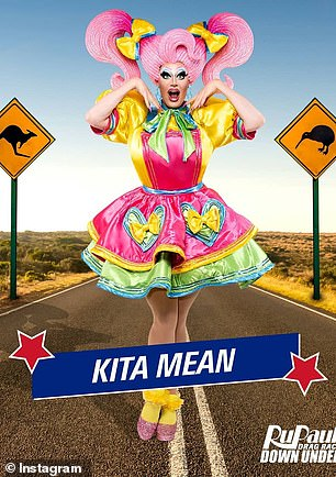 Fierce: Kita Mean has been the host of TVNZ's House of Drag for two seasons, and has maintained her position as resident Drag Queen at Family Bar and Club