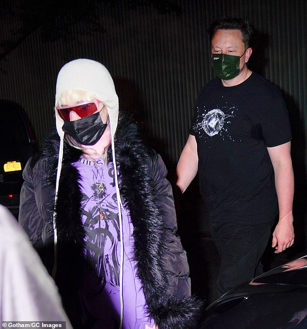 They've both survived bouts with COVID-19: The cerebral couple wore disposable black face masks despite the CDC's new guidelines to only do so indoors or in crowds
