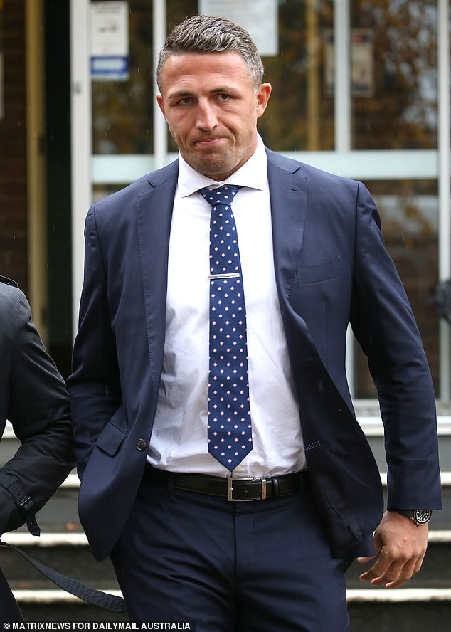 New look: Former NRL star Sam Burgess admitted he was `` aging like the rest of the population '' after sporting noticeably graying hair in a recent court appearance.