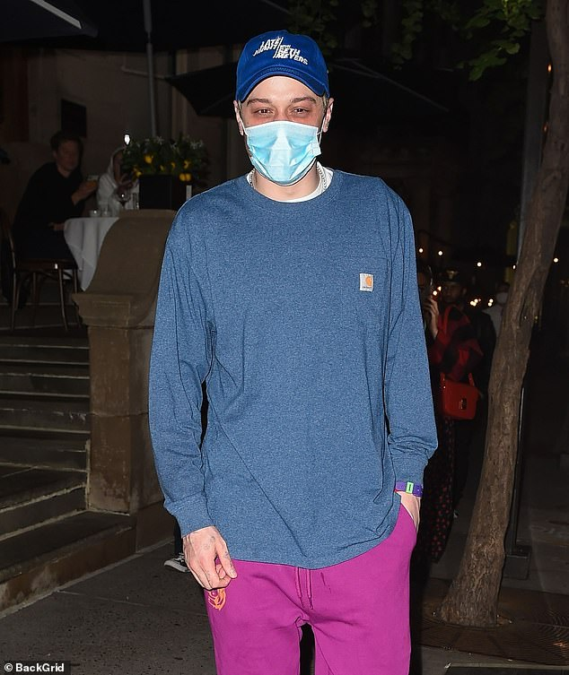 Casual style: Pete kept it casual for dinner with the billionaire