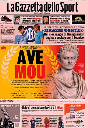 La Gazzetta led with the headline 'Hail Mou' on Wednesday morning