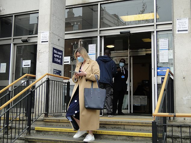 Cates, who was pictured leaving court wearing a beige coat over a navy polka-dot dress, as well as white trainers and a light blue face covering, was also fined £660, with £90 costs