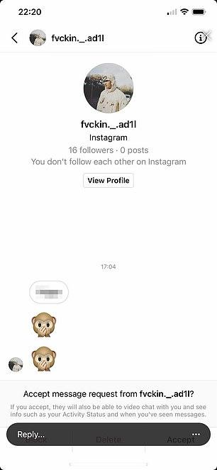 Matondo shared two seperate screenshots