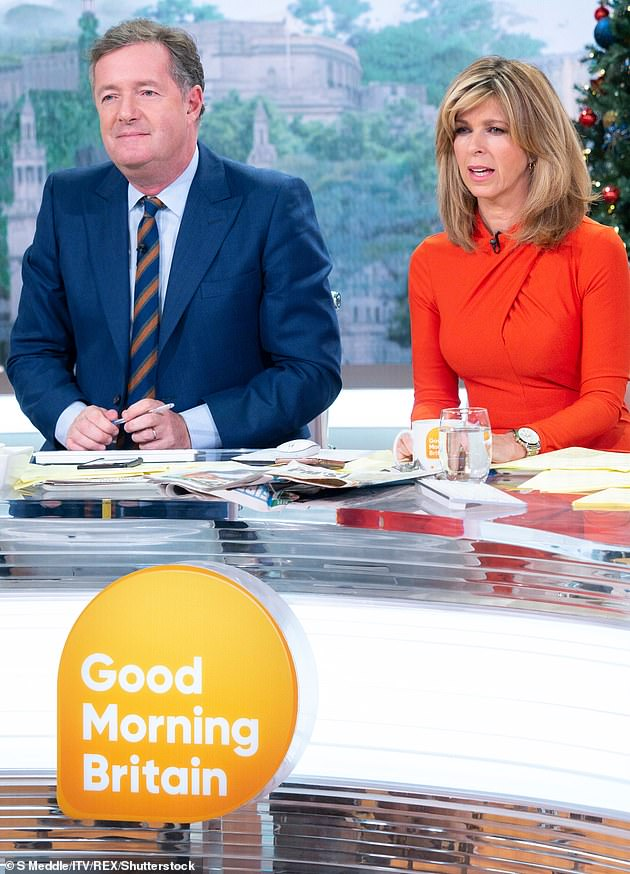 Wise words:The presenter, 54, who worked with the journalist, 56, on Good Morning Britain, said he would 'quote every inspirational figure he could' to 'spur her on' (pictured in 2018)