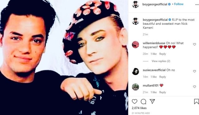 Madonna protégé and Levi's model Nick Kamen has passed away aged 59, with his friend Boy George confirming the news on Instagram