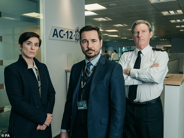 'Impossible':Taking to Twitter on Wednesday, the writer, 55, responded to critics in an impassioned post and said that it is 'impossible' to satisfy all viewers' expectations (Line Of Duty starsVicky McClure, Martin Compston and Adrian Dunbar pictured in show still)
