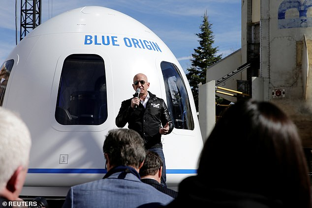 Jeff Bezos' Blue Origin will take its first paying customer to the edge of space on July 20, the firm announced Wednesday. The aerospace company is conducting an online auction for one seat aboard its New Shepard rocket, in which will be awarded to the highest bidder