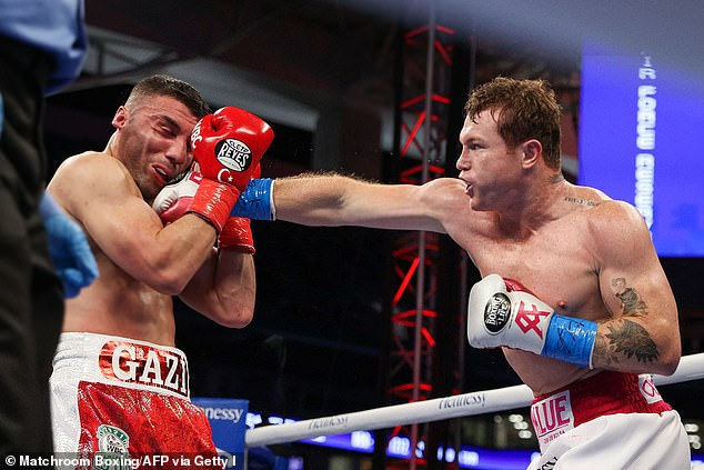 The British boxer also claims Canelo (right) hit him with the 'biggest punch he's ever taken'