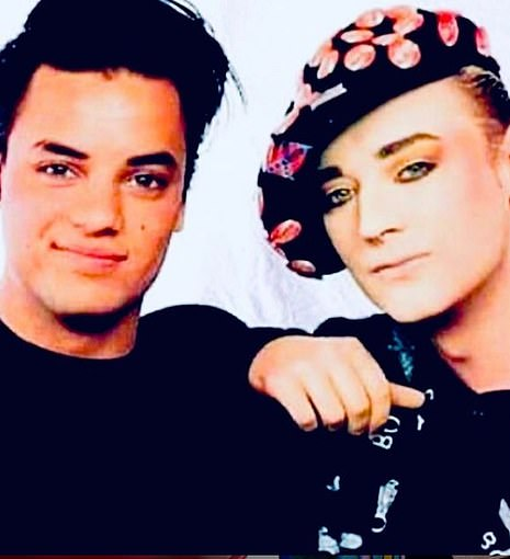 Collaboration: Kamen was best known for his Madonna-written 1986 hit Each Time You Break My Heart and the 1985 Levis 501 commercial, in which he famously stripped off in a launderette. Friends including Boy George paid tribute to him today