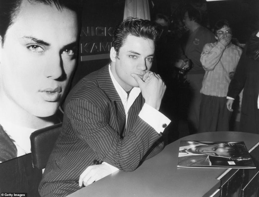Career: The pop star at a signing session to promote his album 'Nick Kamen' in 1987. He had a brief music career but appeared less in the public eye later in his life