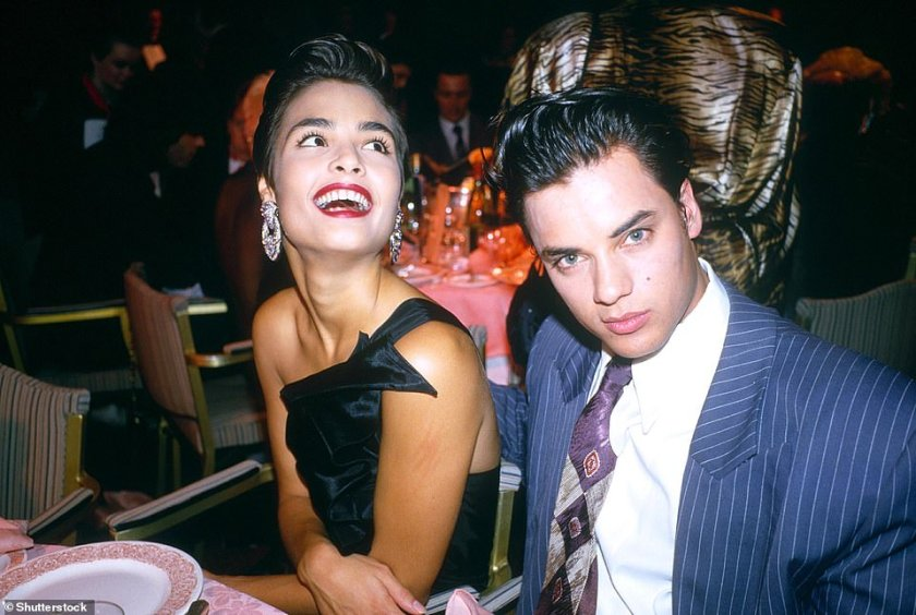 Romance: Kamen dated famous women including the actress Talisa Soto, who he is seen with at the Brit Awards at Grosvenor House Hotel in London, England on February 9, 1987
