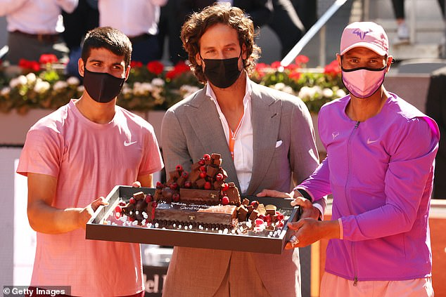 He was presented with a cake on court by tournament director Feliciano Lopez after turning 18