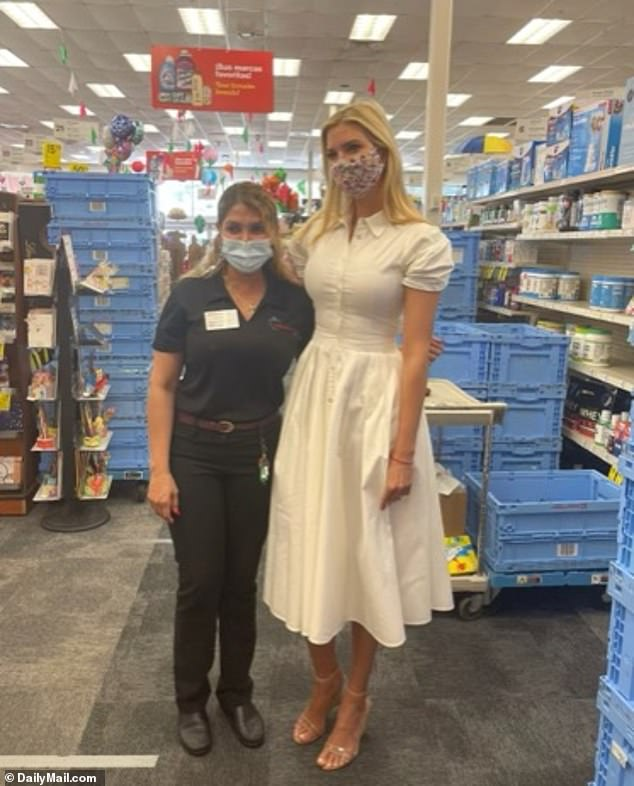 Ivanka Trump received her second COVID vaccine shot on Wednesday and, in exclusive pics, is seen posing with nursing staff at the CVS in Miami where she was inoculated