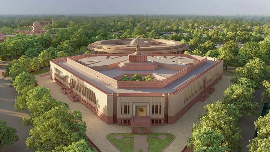 In August 2022, when India celebrates its 75th year of independence, he aims to open a garish new parliament resembling a triangular wedding cake, the enormous scale of which will obscure Lutyens's masterwork