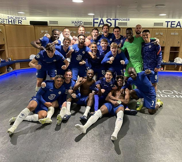 Chelsea players were delighted in the dressing room after booking a Champions League final spot after their win over Real Madrid
