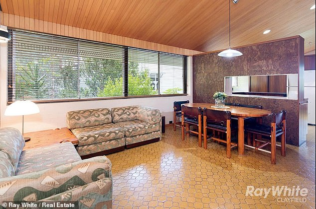 The house has been well-maintained and still has many original 1970s-style features