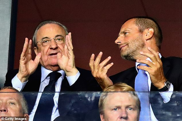 UEFA president Aleksander Ceferin mocked those clubs still believing in the Super League