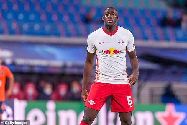 RB Leipzig defender Ibrahima Konate (above) has agreed personal terms with Liverpool
