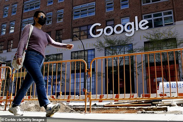 According to an email circulated by Pichai, around 60 per cent of Google employees are expected in the office each week while another 20 per cent will be assigned to new office locations. The image above shows Google's corporate office in New York City on April 13