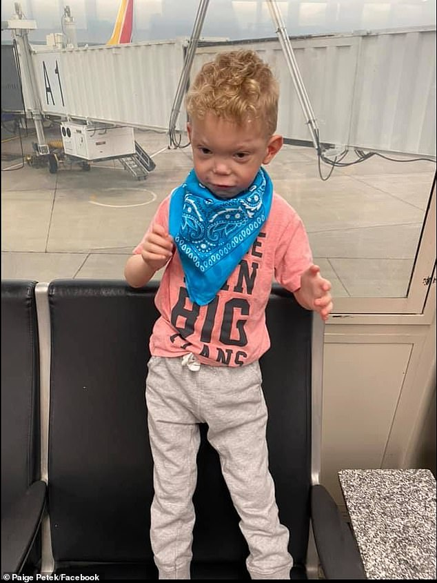 Three days after the Scott family's incident, the Petek family, whose five-year-old sonis nonverbal and has autism and a sensory processing disorder, was kicked off a Southwest Airlines flight because he was struggling with his mask